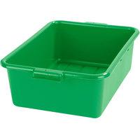 Carlisle N4401109 Comfort Curve 20 inch x 15 inch x 7 inch Green Polyethylene NSF Bus Tub