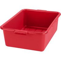 Carlisle N4401105 Comfort Curve 20 inch x 15 inch x 7 inch Red Polyethylene NSF Bus Tub