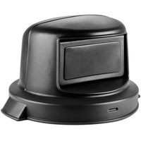 Continental 4456BK Huskee 44 Gallon Black Dome Top Trash Can Lid