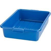 Carlisle N4401014 Comfort Curve 20 inch x 15 inch x 5 inch Blue Polyethylene NSF Bus Tub