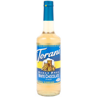 Torani 750 mL Sugar Free White Chocolate Flavoring Syrup