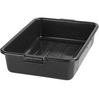 Carlisle N4401003 Comfort Curve 20 inch x 15 inch x 5 inch Black Polyethylene NSF Bus Tub