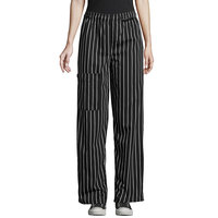 Uncommon Threads 4100 Unisex Chalk Stripe Customizable Uncommon Cargo Chef Pants - XL