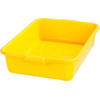 Carlisle N4401004 Comfort Curve 20 inch x 15 inch x 5 inch Yellow Polyethylene NSF Bus Tub