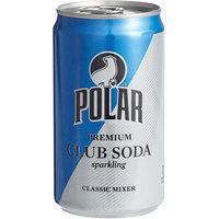 Polar 7.5 oz. Club Soda Cans - 6/Pack