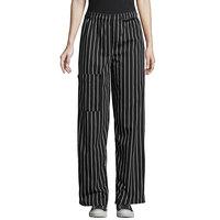 Uncommon Threads 4100 Unisex Chalk Stripe Customizable Uncommon Cargo Chef Pants - L