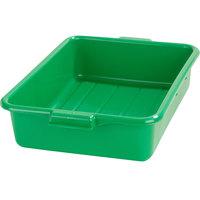 Carlisle N4401009 Comfort Curve 20 inch x 15 inch x 5 inch Green Polyethylene NSF Bus Tub