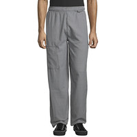 Uncommon Threads 4100 Unisex Houndstooth Customizable Uncommon Cargo Chef Pants - XL