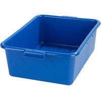 Carlisle N4401114 Comfort Curve 20 inch x 15 inch x 7 inch Blue Polyethylene NSF Bus Tub