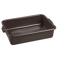 Carlisle 4401001 Comfort Curve 20 inch x 15 inch x 5 inch Brown Polyethylene Bus Tub