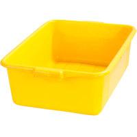 Carlisle N4401104 Comfort Curve 20 inch x 15 inch x 7 inch Yellow Polyethylene NSF Bus Tub