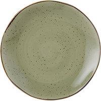 Tuxton GGO-008 TuxTrendz Artisan Geode Olive 11 5/8 inch China Plate - 12/Case