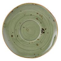 Tuxton GGO-084 TuxTrendz Artisan Geode Olive 6 3/8 inch China Saucer - 24/Case