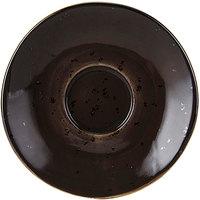 Tuxton GGM-086 TuxTrendz Artisan Geode Mushroom 5 inch China Saucer - 24/Case