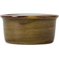 Tuxton GGW-752 TuxTrendz Artisan Geode Walnut 2.5 oz. China Ramekin - 24/Case