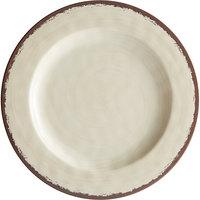 Carlisle 5400153 Mingle 11 inch Sweet Cream Round Melamine Plate - 12/Case