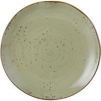 Tuxton GGO-006 TuxTrendz Artisan Geode Olive 10 1/4 inch China Plate - 12/Case
