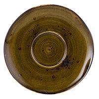 Tuxton GGW-084 TuxTrendz Artisan Geode Walnut 6 3/8 inch China Saucer - 24/Case