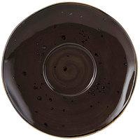 Tuxton GGM-084 TuxTrendz Artisan Geode Mushroom 6 3/8 inch China Saucer - 24/Case