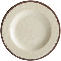 Carlisle 5400253 Mingle 9 inch Sweet Cream Round Melamine Salad Plate - 12/Case