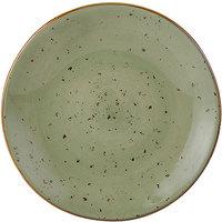 Tuxton GGO-003 TuxTrendz Artisan Geode Olive 7 1/4 inch China Plate - 24/Case