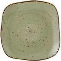 Tuxton GGO-500 TuxTrendz Artisan Geode Olive 7 1/4 inch Square China Plate - 12/Case