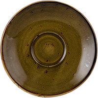 Tuxton GGW-086 TuxTrendz Artisan Geode Walnut 5 inch China Saucer - 24/Case