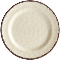 Carlisle 5400753 Mingle 7 inch Sweet Cream Round Melamine Bread and Butter Plate - 12/Case