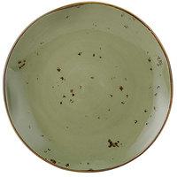 Tuxton GGO-005 TuxTrendz Artisan Geode Olive 9 inch China Plate - 24/Case