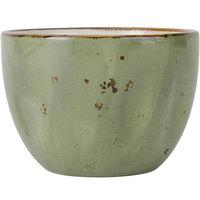 Tuxton GGO-042 TuxTrendz Artisan Geode Olive 8 oz. China Bouillon Cup - 24/Case