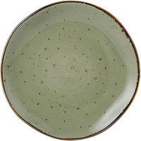 Tuxton GGO-002 TuxTrendz Artisan Geode Olive 6 1/2 inch China Plate - 24/Case