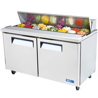 Turbo Air MST-60 60 inch M3 Series Two Door Refrigerated Salad / Sandwich Prep Table