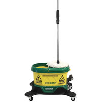 Bissell Commercial CM500D-GRN CycloMop Spin Mop and Bucket System with Dolly, 2 Mop Heads, and Scrub Brush