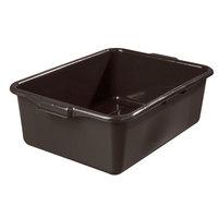 Vollrath 1527B-01 Traex® 21 3/4 inch x 15 1/2 inch x 7 inch Brown High Density Polyethylene Bus Tub - Bulk