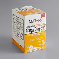 Medique 84025 Medi-First Honey Lemon Cough Drops   - 125/Box