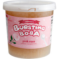 Bossen 7.26 lb. Embrace Pink Rose Bursting Boba - 4/Case