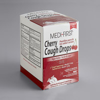 Medique 81525 Medi-First Cherry Cough Drops   - 125/Box