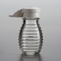 Tablecraft BH2MPW 2 oz. Glass Beehive Shaker with White Moisture Proof ABS Top   - 24/Case