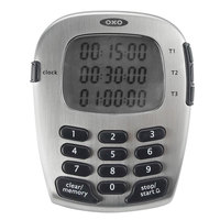 OXO 1071501 Good Grips Digital 3 Channel Kitchen Timer with Clock