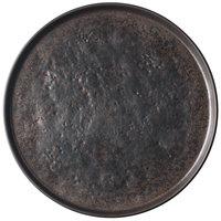 Tablecraft 123515BR Lunara 10 3/4 inch Brown Round Melamine Platter