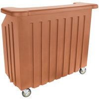 Cambro BAR540157 Cambar Coffee Beige 54 inch Portable Bar with 5-Bottle Speed Rail