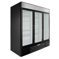 Beverage-Air LV72HC-1-B LumaVue 75 inch Black Refrigerated Glass Door Merchandiser with LED Lighting