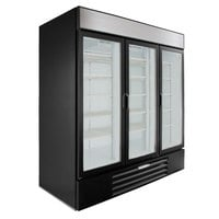 Beverage-Air LV72HC-1-B LumaVue 75 inch Black Refrigerated Glass Door Merchandiser with LED Lighting