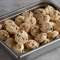 David's Cookies 3 oz. Preformed Gourmet Chocolate Chip Cookie Dough   - 107/Case