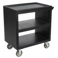 Cambro BC230110 Black Three Shelf Service Cart - 33 1/4 inch x 20 inch x 34 5/8 inch