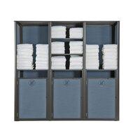 Grosfillex US036288 Sunset Madras Blue / Volcanic Black Triple Unit Towel Valet