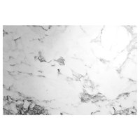 Grosfillex US48D745 Exterior Vanguard 48 inch x 32 inch White Marble Outdoor Table Top