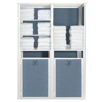 Grosfillex US034096 Sunset Madras Blue / Glacier White Double Unit Towel Valet