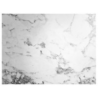 Grosfillex US24D745 Exterior Vanguard 24 inch x 32 inch White Marble Outdoor Table Top