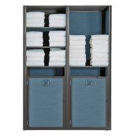 Grosfillex US034288 Sunset Madras Blue / Volcanic Black Double Unit Towel Valet